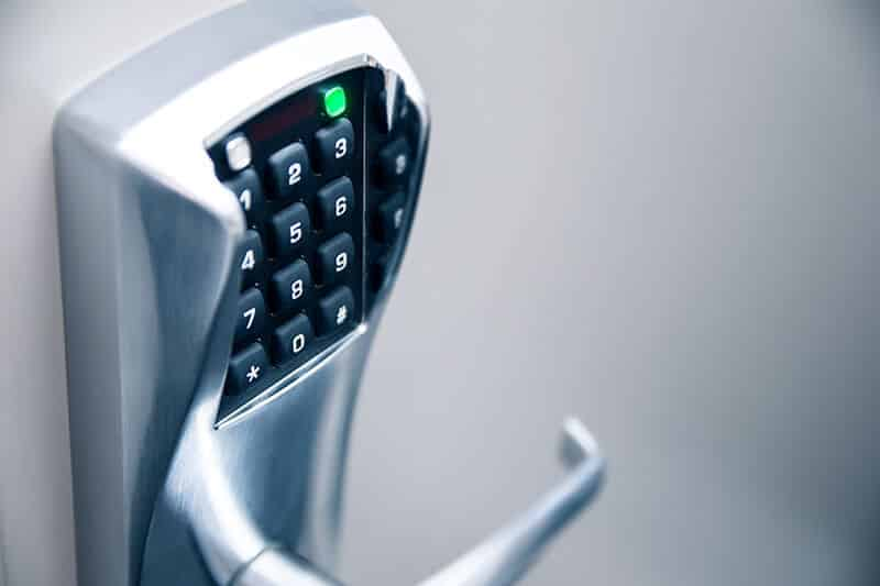 controlled entry home and business security keypad locked door