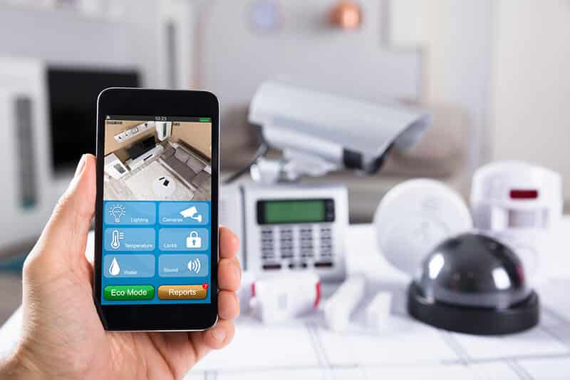 home automation smart home controls on phone home security