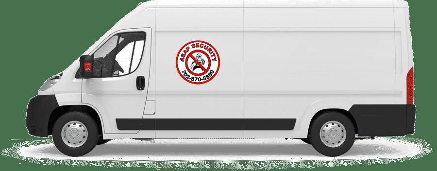 ASAP Security Branded Van